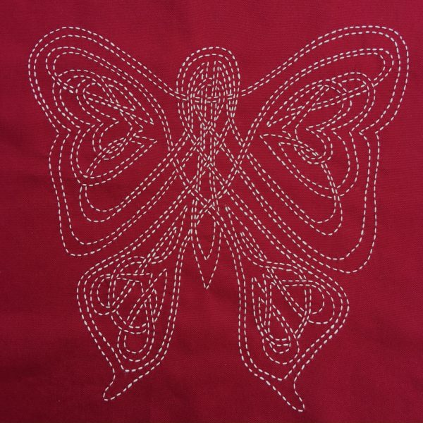 sashiko celtic butterfly