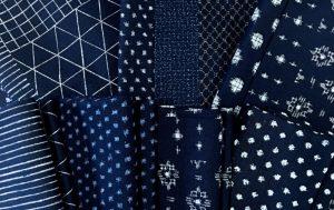 indigo fabric selection
