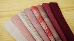 pink yarn dyed pre cut fabric