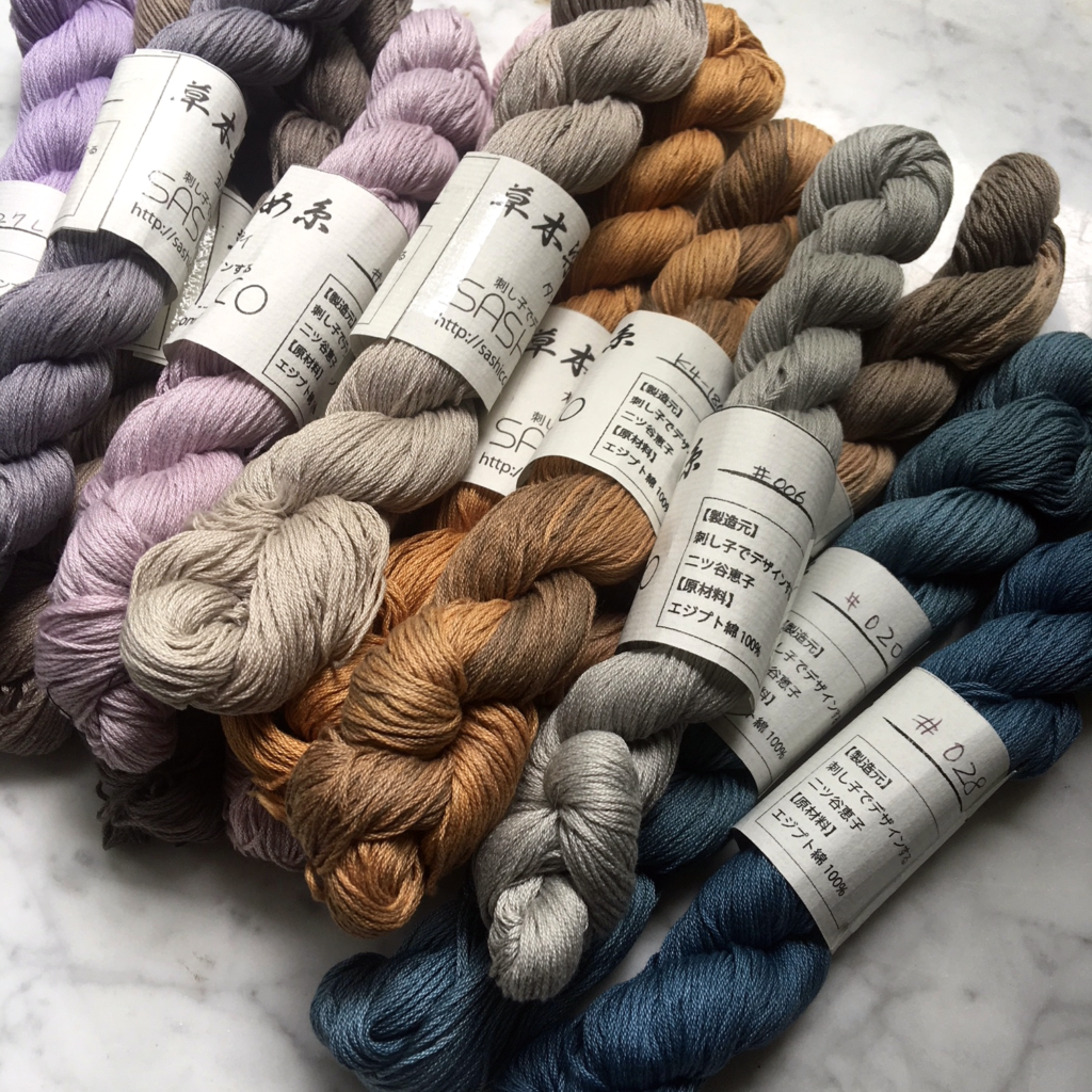 sashiko thread natural dyed