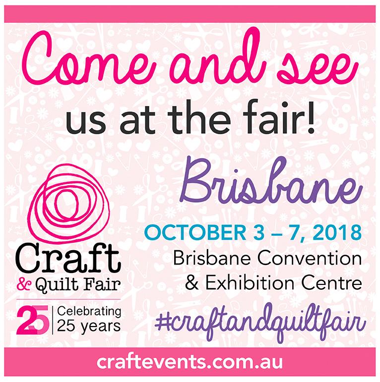 brisbane craft and quilt fair flyer