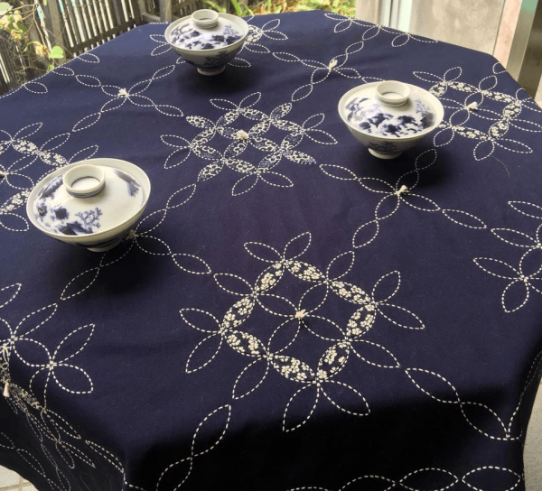 sashiko table cloth