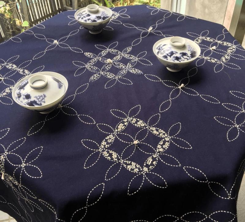 sashiko table cloth