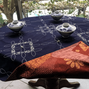 sashiko tablecloth