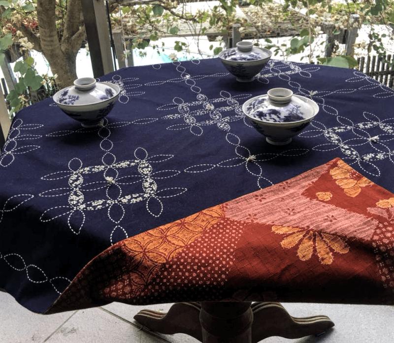 sashiko tablecloth