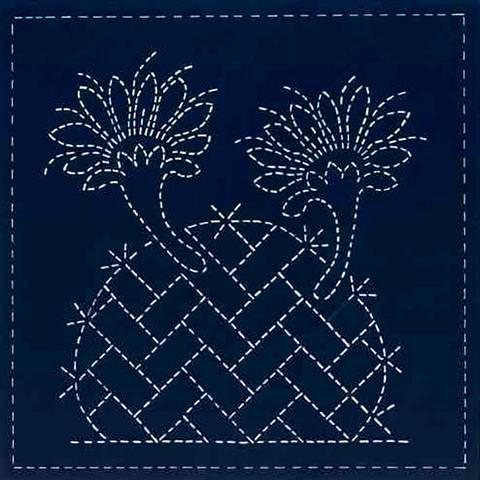 cactus flower sashiko design