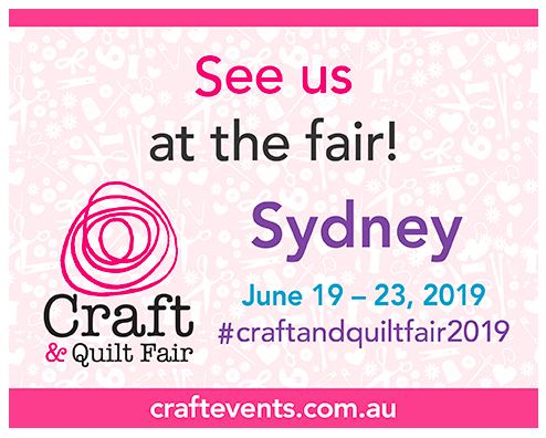 sydney craft and quilt fair flyer