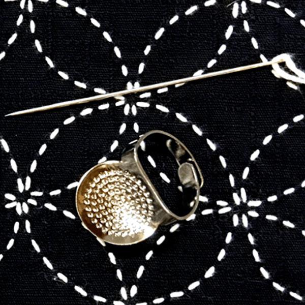 sashiko needle and thimble