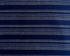 indigo fabric with white stripes