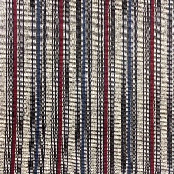 cherry and blue stripe japanese fabric