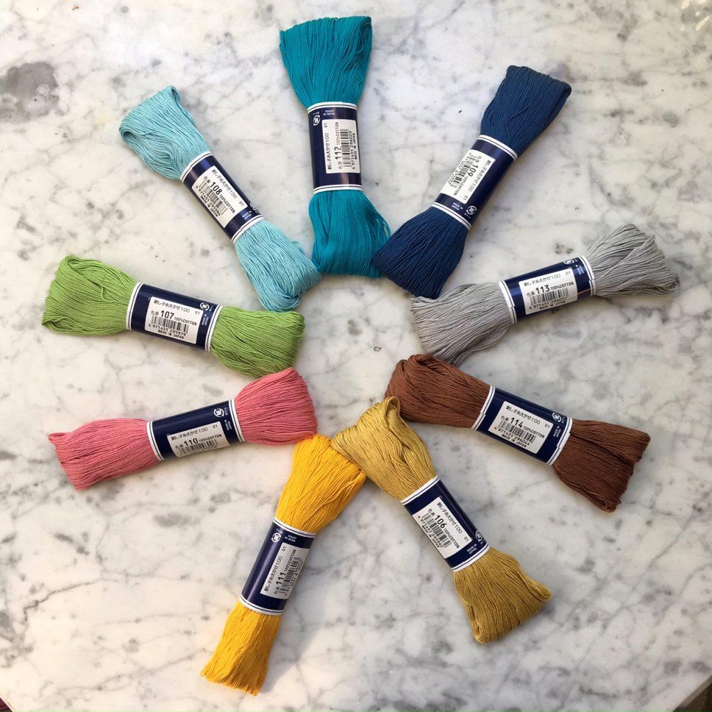 sashiko thread variety pack