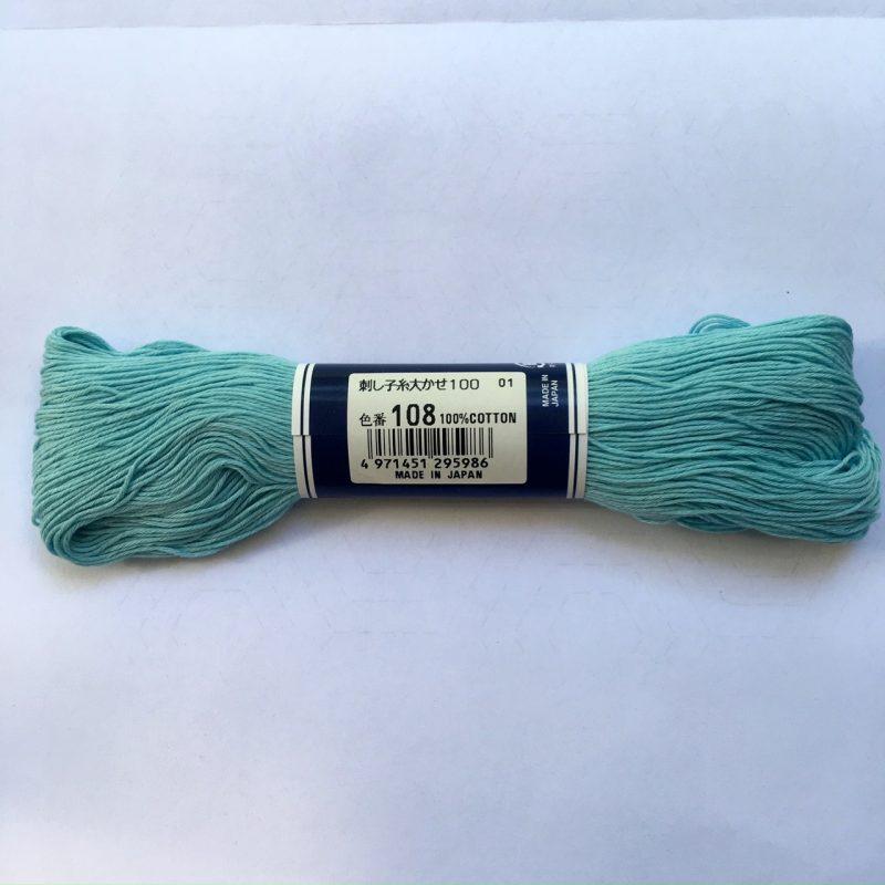 light blue sashiko thread