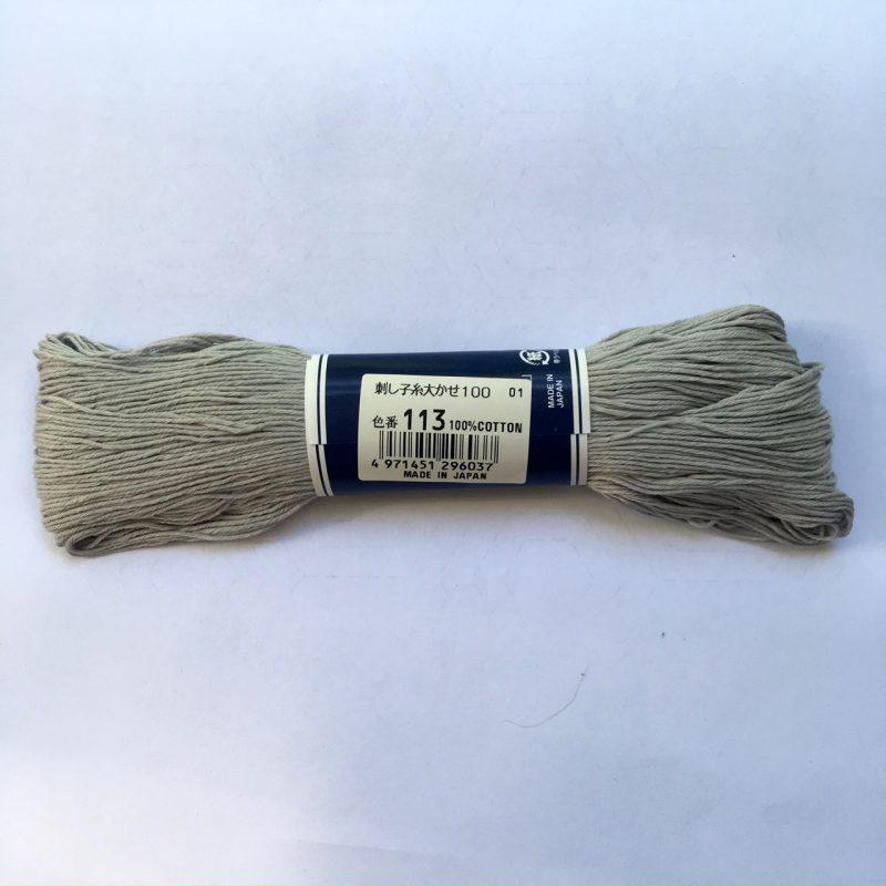 light grey sashiko thread