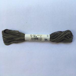 grey variegated sashiko thread
