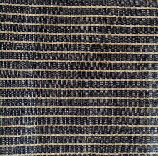 indigo striped yarn dyed fabric