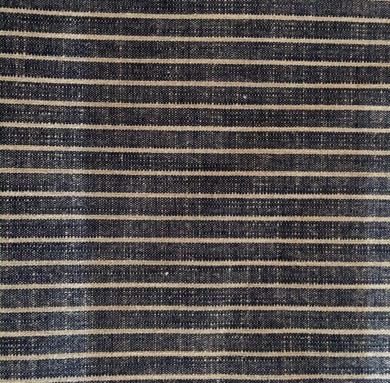 indigo striped yarn dyed fabric
