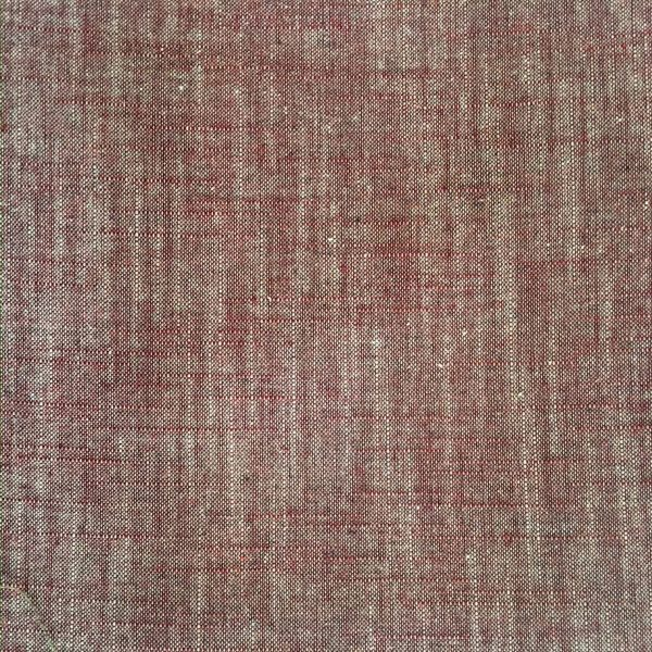 cherry coloured yarn dyed fabric