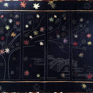 japanese maple sashiko panel