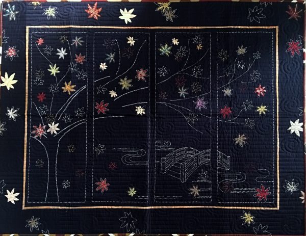 japanese maple sashiko panel