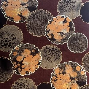 chocolate floral dobby weave fabric