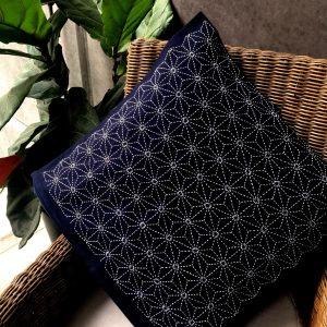 sashiko cushion asanoha