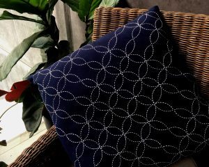 sashiko cushion seven treasures