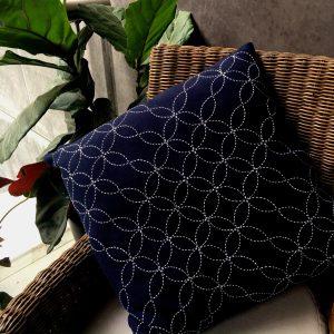 sashiko cushion seven treasures