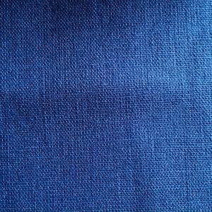 french blue cotton linen sashiko fabric