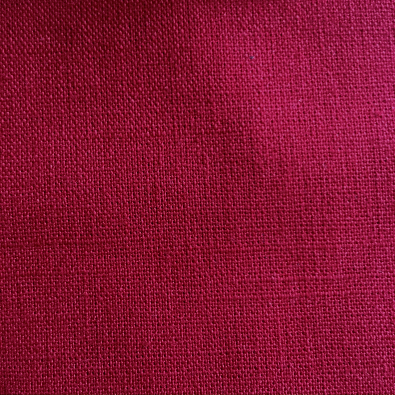 red cotton linen fabric for sashiko embroidery