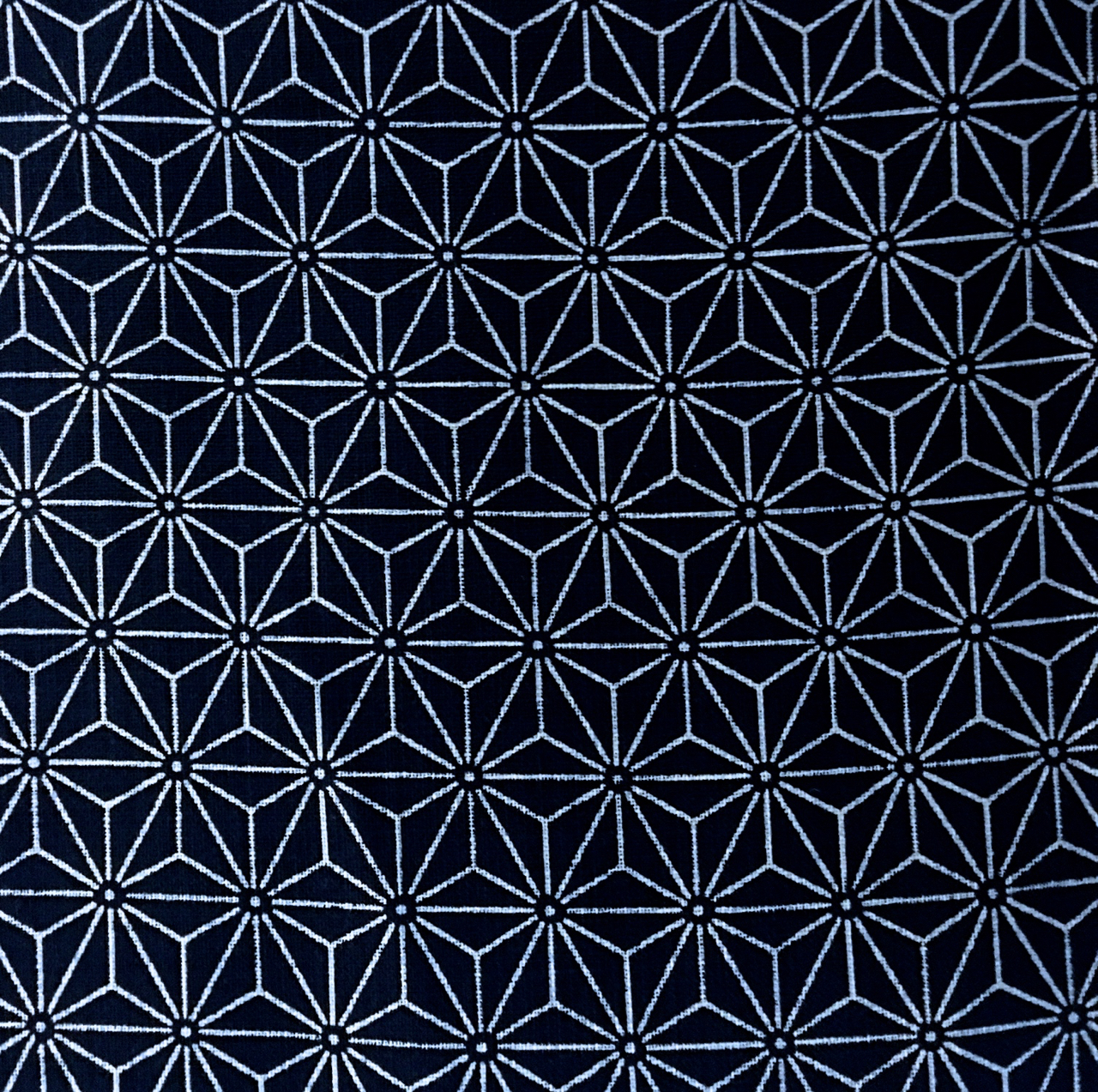 indigo fabric with asanoha design