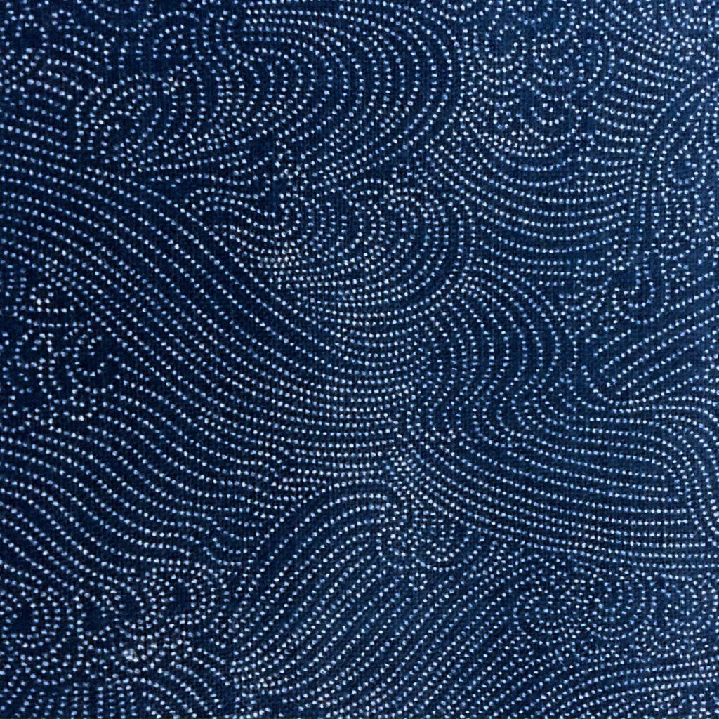 indigo waves japanese fabric