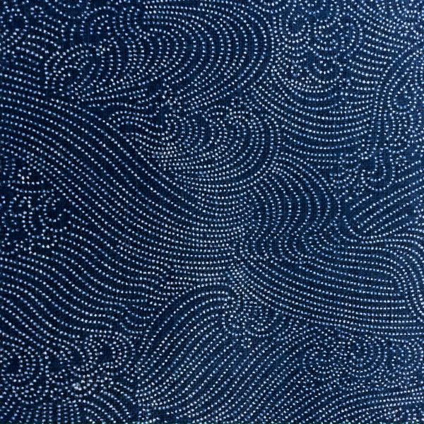 indigo waves japanese fabric