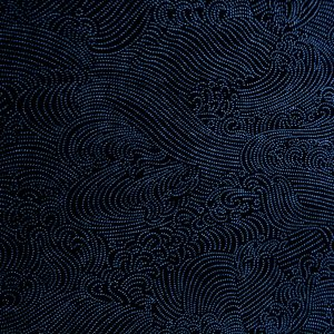 dark indigo waves japanese fabric