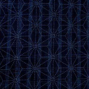 indigo asanoha japanese fabric