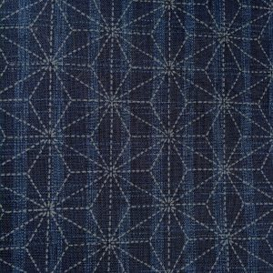 mid blue asanoha japanese fabric