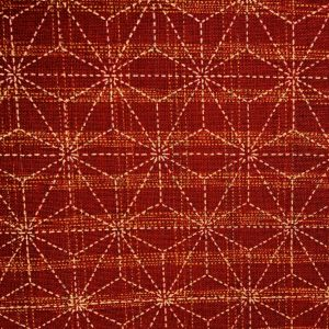 cherry red asanoha japanese fabric