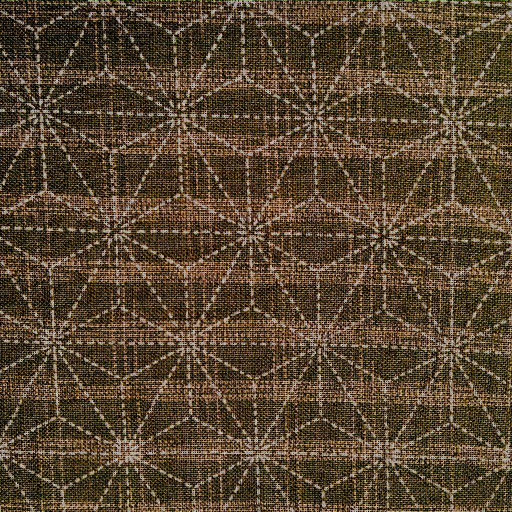 moss green asanoha japanese fabric