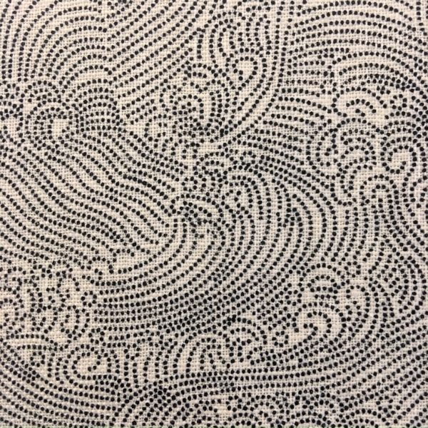 cream waves japanese fabric