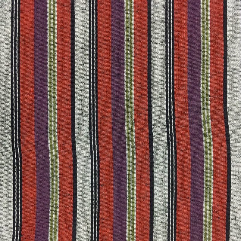 purple red striped cotton japanese fabric