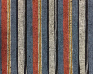 terracotta grey striped cotton japanese fabric