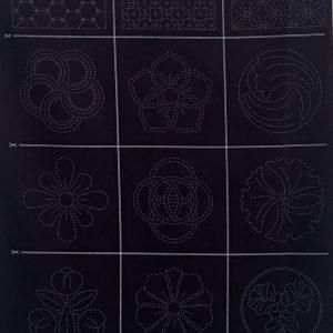 sashiko treasures panel 1 indigo