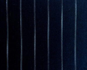 navy cotton linen fabric with double pinstripe