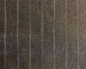 grey cotton linen fabric with double pinstripe