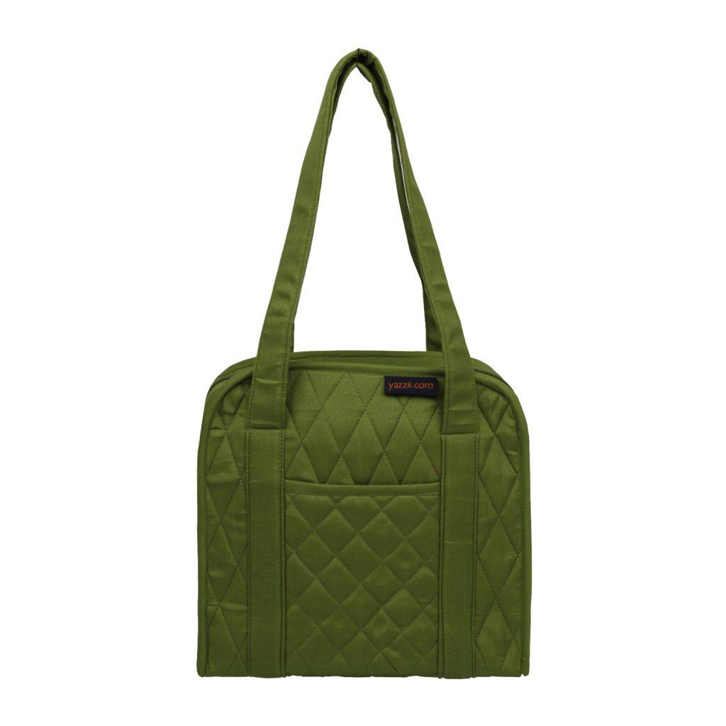 green oval craft organiser bag