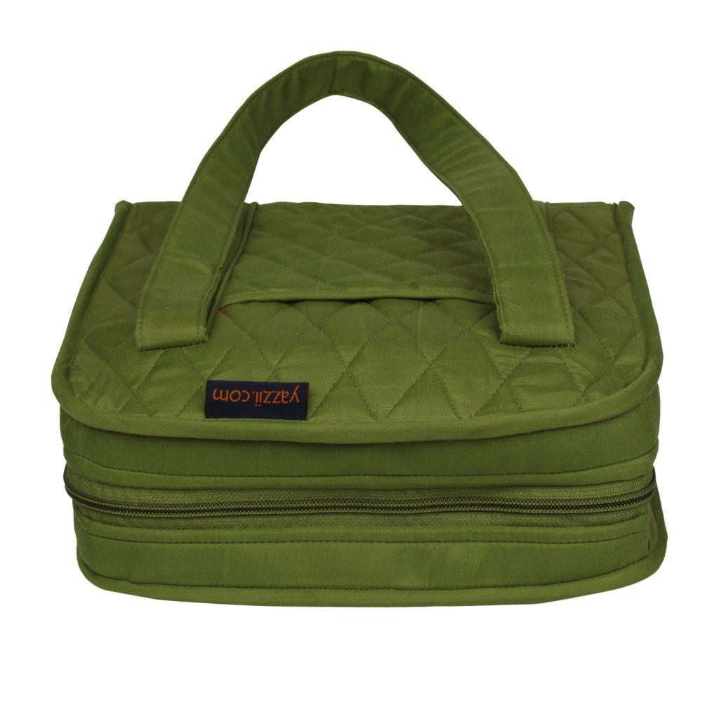 green craft organiser bag closed
