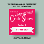 great international craft show flyer