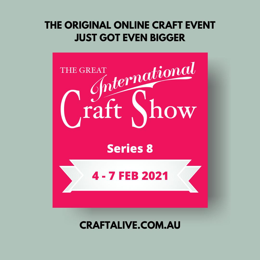 great international craft show flyer