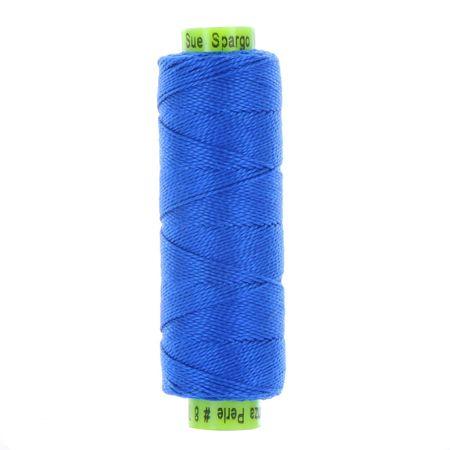sue spargo eleganza bright blue perle cotton thread