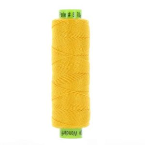 sue spargo eleganza lemon yellow perle cotton thread