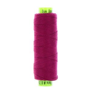 sue spargo eleganza dark purple perle cotton thread